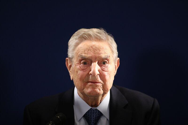 George Sorosin Davos on Jan. 23.