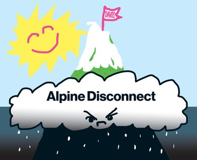 Davos illustration: Alpine disconnect