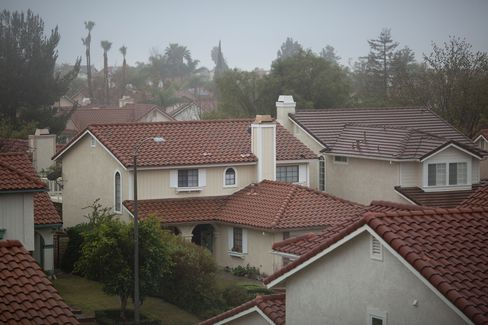 Houses stand in the Porter Ranch neighborhood during a natural-gas leak.