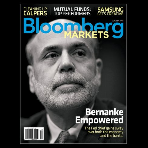 The cover of the October 2010 issue of Bloomberg Markets