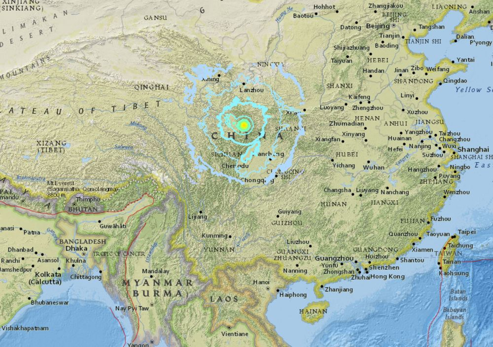 Strong Quake Strikes Southwest China 13 Dead 175 Injured Bloomberg