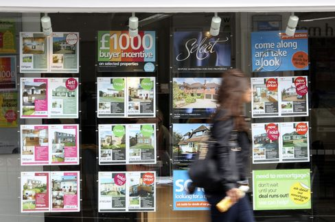 U.K. House-Price Index Rises to Six-Month High on Credit Plan