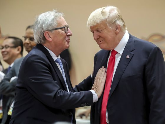 Trump's EU Jab May Hit Home as Juncker Goes to Washington