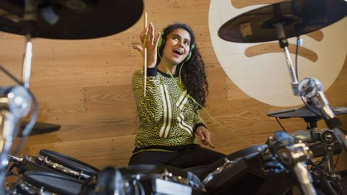 Kiran Gandhi played drums for M.I.A. on the rapper's international tour during her first year at Harvard.