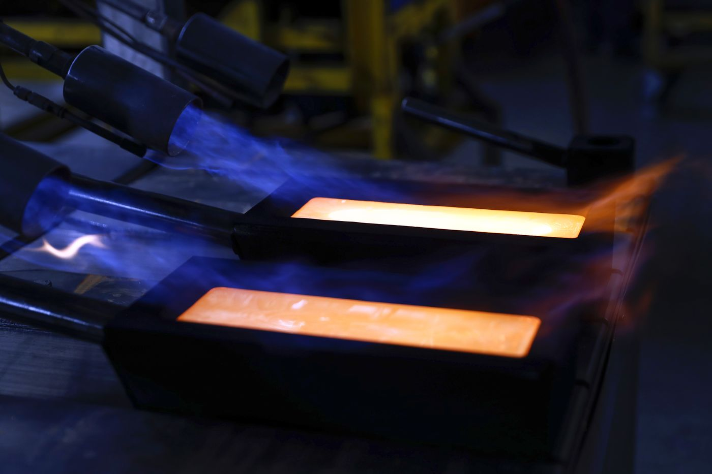 Gold Bar Casting At Valcambi SA Precious Metals Refinery