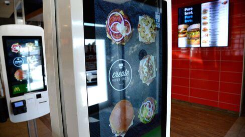 A build-your-own burger kiosk at a McDonald's in Colorado.