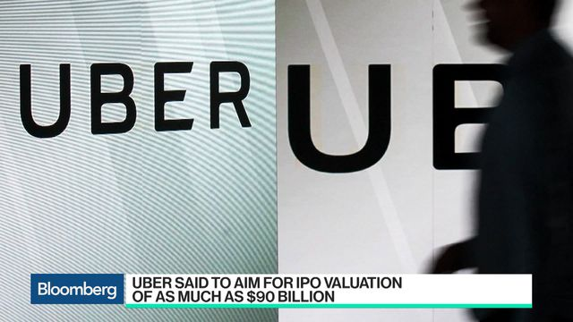 Uber Aims for an IPO Valuation of as Much as $90 Billion