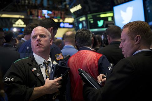 U.S. Stocks Fall as GDP Fuels Stimulus Concern; Twitter Soars