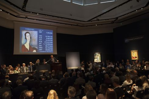 Christie's Impressionist and modern evening auction in London on the eve of the Brexit vote.