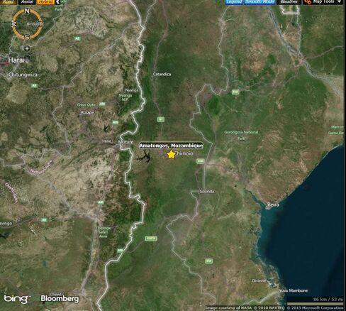 MAP: Site of Sept. 25 clash between Renamo militia and police