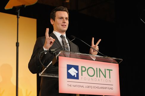 Actor Jonathan Groff said in his early 20s, he called his boyfriend his