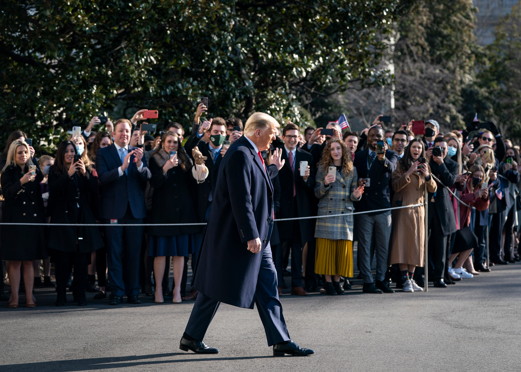 President Trump visits the White House for the border