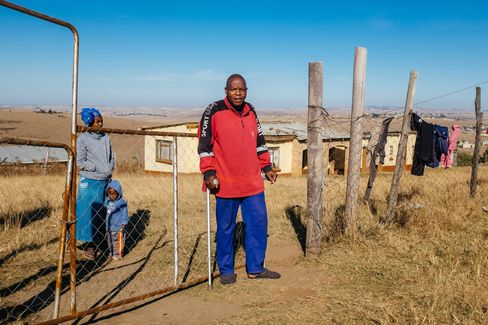Landile Qebula with his family in Eastern Cape.