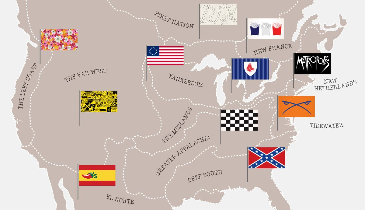 The Real U.S. Map, a Country of Regions (Part 5): Colin Woodard - Bloomberg View