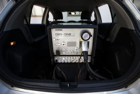 A Horiba Ltd. OBS-ONE portable emissions measurement system