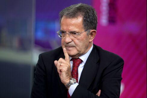 Former Prime Minister Romano Prodi