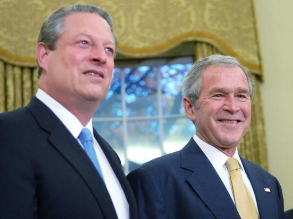 an overview of the presidential election between al gore and george bush Chapter 7 george w bush: d worldwide intelligence overview to the recently selected republican candidate the first of three presidential debates between al.