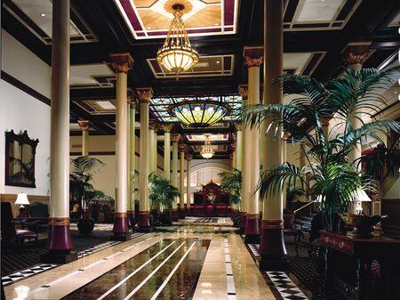 The Driskill's lobby in Austin, Texas.