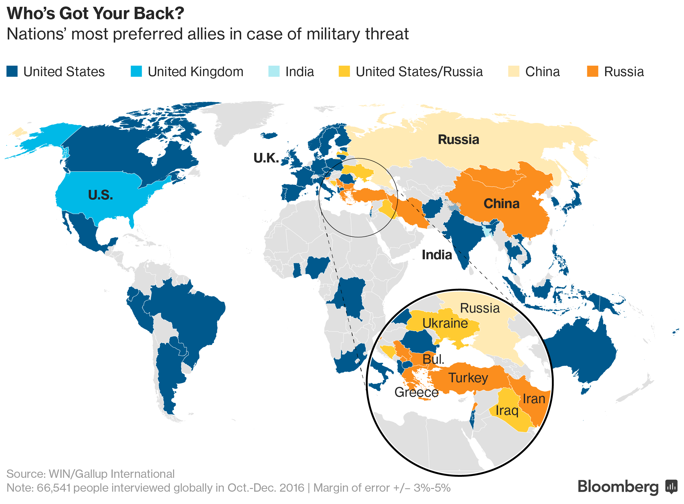 Four NATO Nations Would Pick Russia Over US To Defend Them - Map ukraine over us