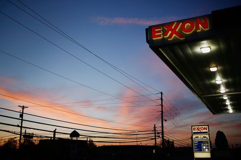 An Exxon Mobil Corp. Gas Station Ahead Of Earnings Figures