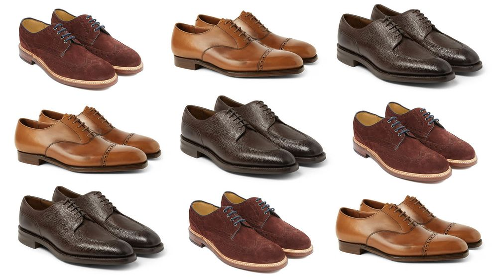 2aa42f571134 Assortment of British-made shoes  all known for their high level of  craftsmanship and