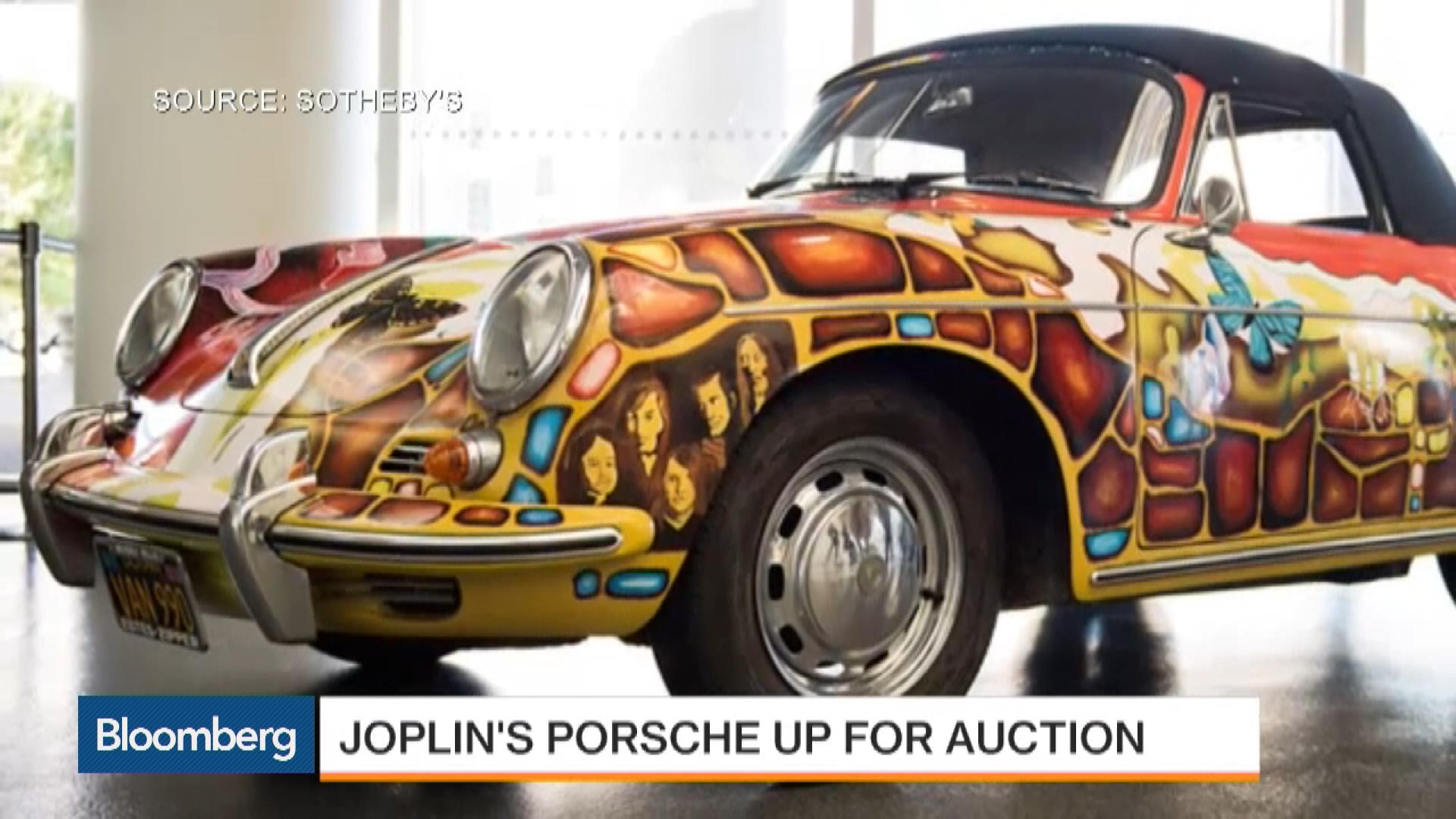Janis Joplin's Porsche Up for Auction at Sotheby's – Bloomberg on