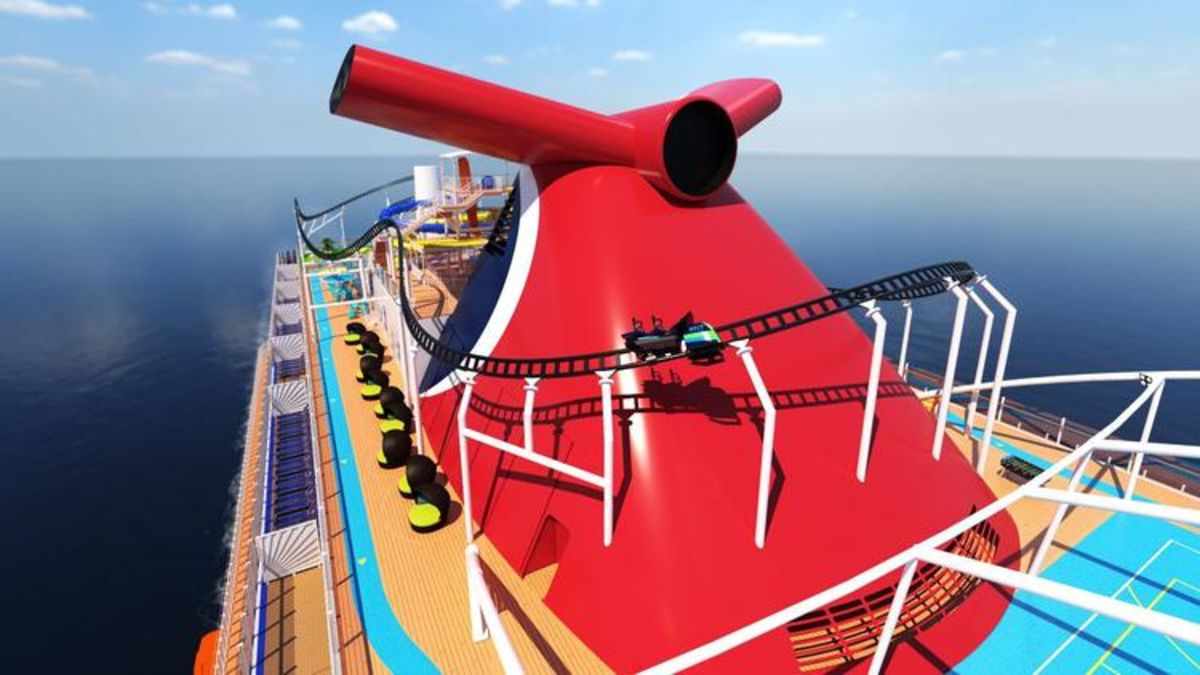 Carnival One-Ups Its Rivals With Plans for Onboard Roller Coaster