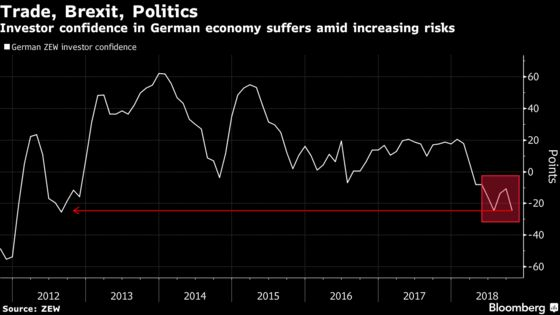 Investor Optimism in German Economy Plunges as Risks Add Up