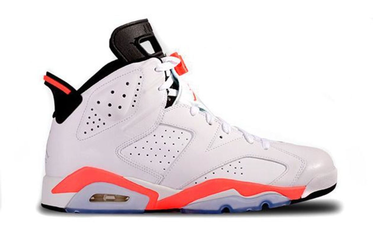innovative design 199a6 38b55 Jordan 6 Retro Infrared White