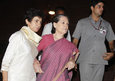 India's Congress Party President Sonia Gandhi