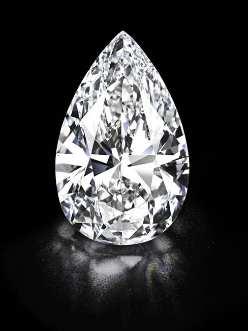 'Winston Legacy' Pear-Shaped Colorless Diamond