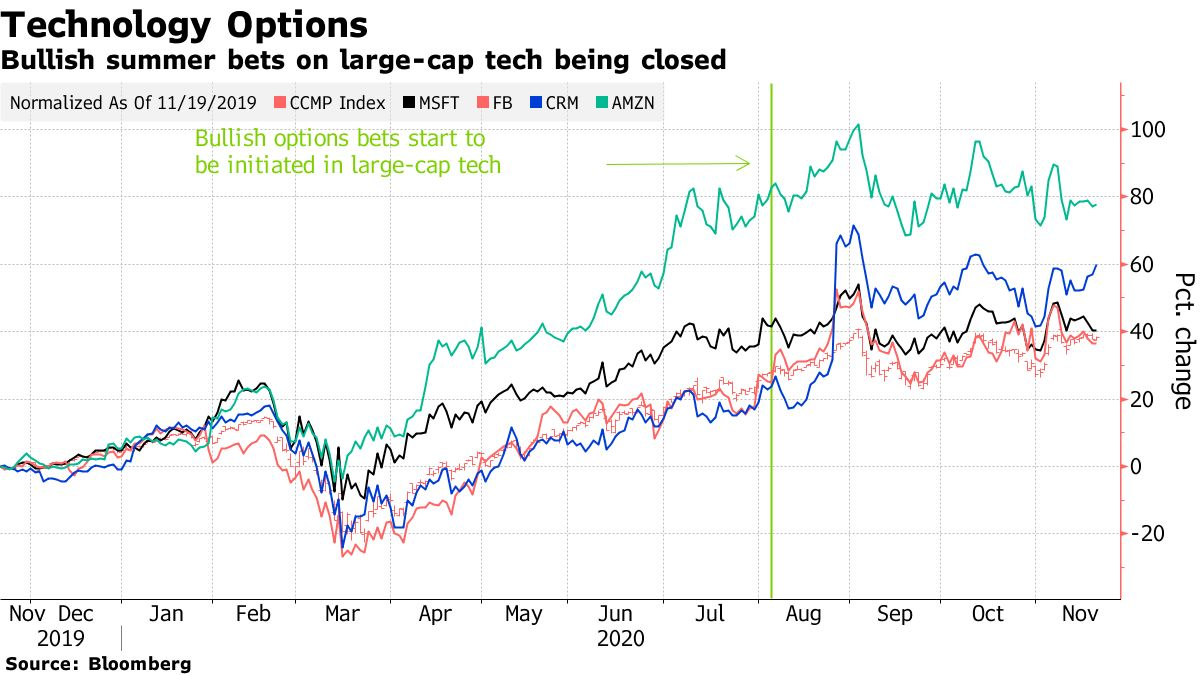 Bullish summer bets on large-cap tech being closed