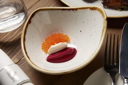 The borscht at Lowlife, newly opened on the Lower East Side, is a good way to start dinner.