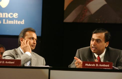 Anil and Mukesh Ambani