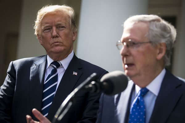 President Trump And Senate Majority Leader McConnell Deliver Remarks After Meeting At The White House