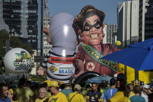 A protest in Sao Paulo on April 17.