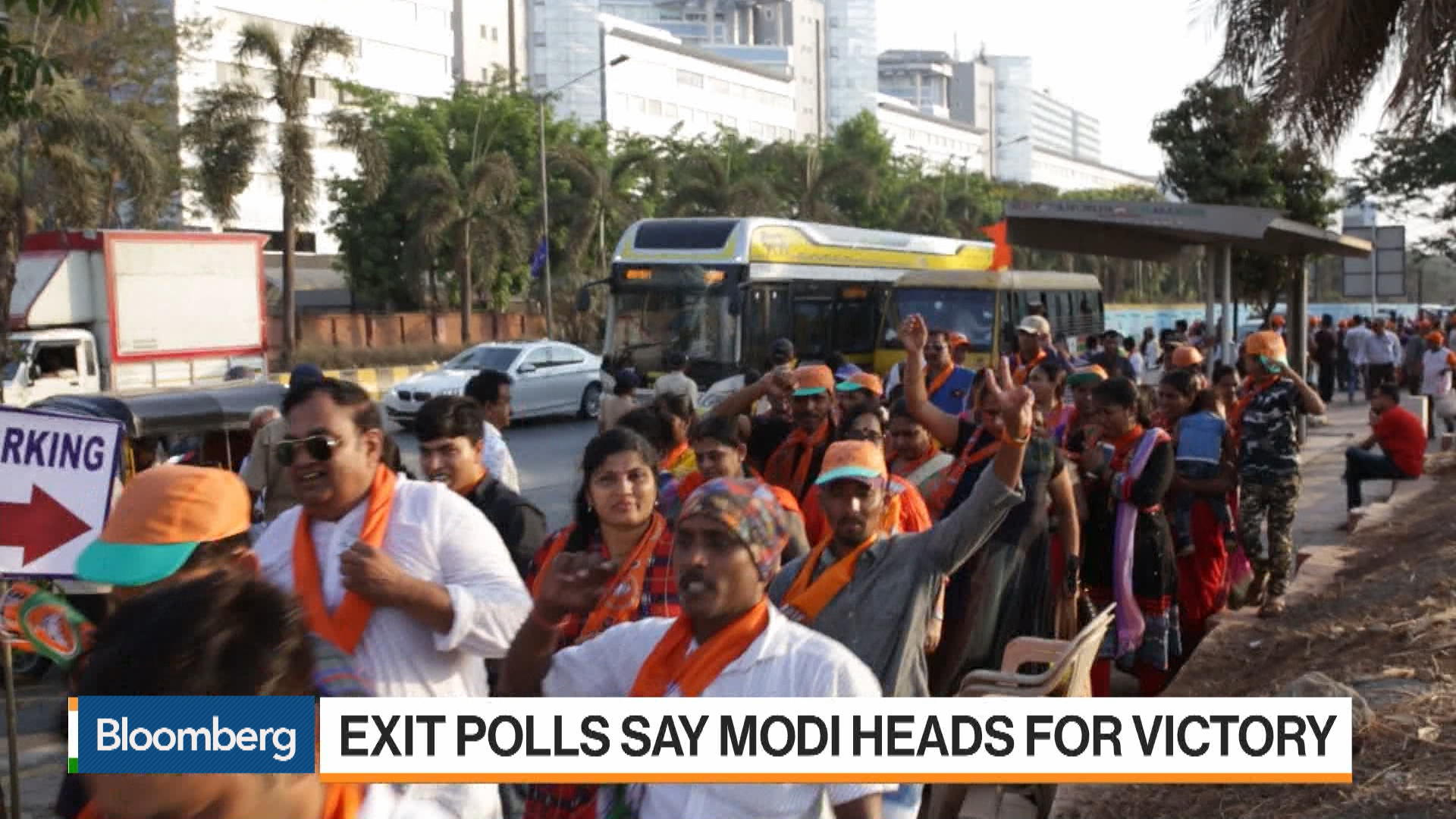 Exit Polls Say Modi Heads for Victory