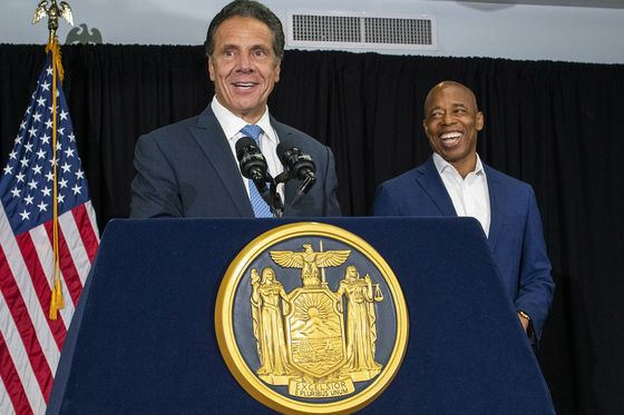 Cuomo and Adams Tout Themselves as Two-of-a-Kind Progressives