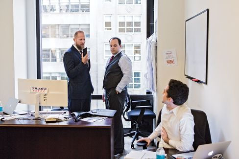 Parscale and his colleagues in his Trump Tower office.