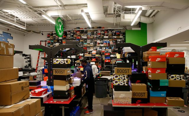 The authenticating room for sneakers at StockX in Detroit in 2018.