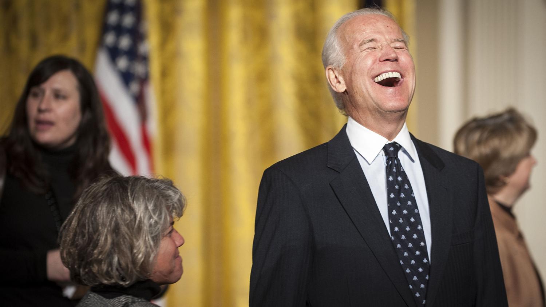 A light moment for Biden