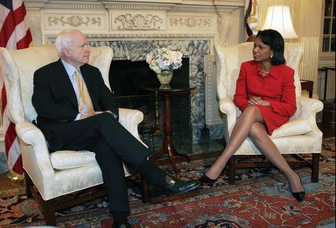 McCain Joins Rice as Republican Convention Speakers