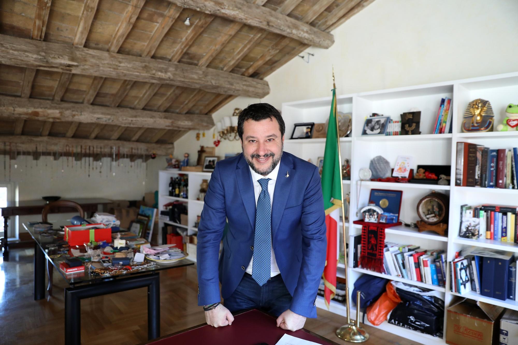 Intervista al leader della Lega italiana Matteo Salvini