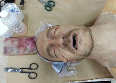 A replica of David Thewlis's head.