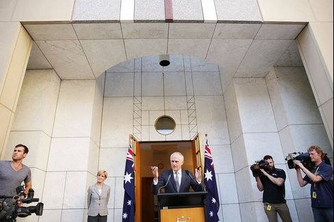 Malcolm Turnbull announces his Ministry in Canberra on Sept. 20.