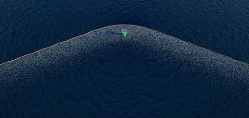 Digital rendering of The Ocean Cleanup