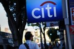Signage is displayed outside of a Citigroup inc. Citibank branch in the Little Tokyo.