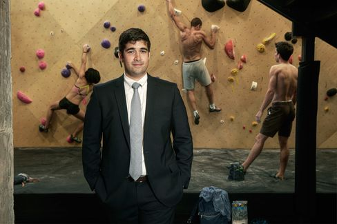 Brooklyn Boulders co-founder Lance Pinn at the Long Island City gym.