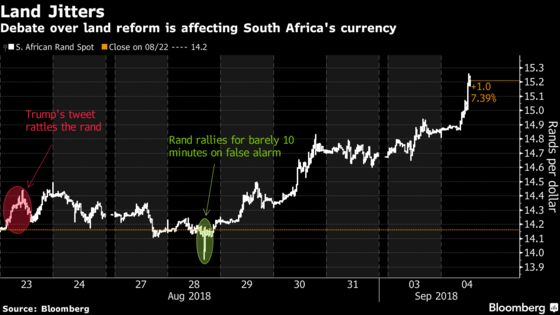 Land Reform Emerges as Battered Rand's Latest Pressure Point