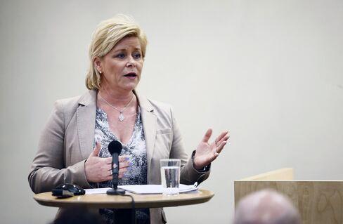 Norwegian Minister of Finance Siv Jensen